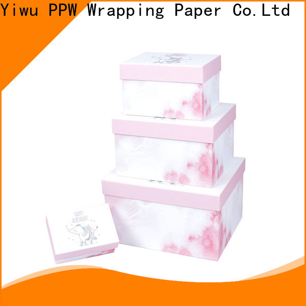 PPW hot selling print box manufacturer for birthday