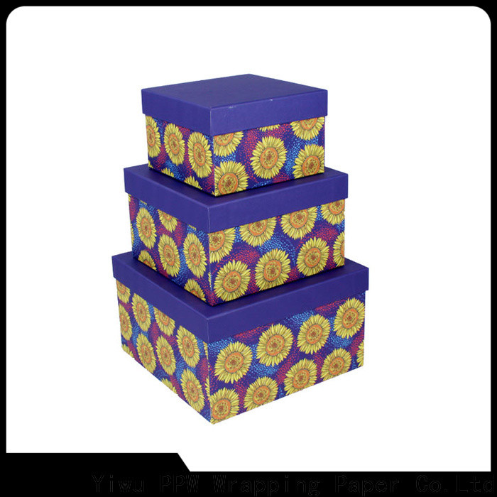PPW buy cardboard boxes manufacturer for birthday