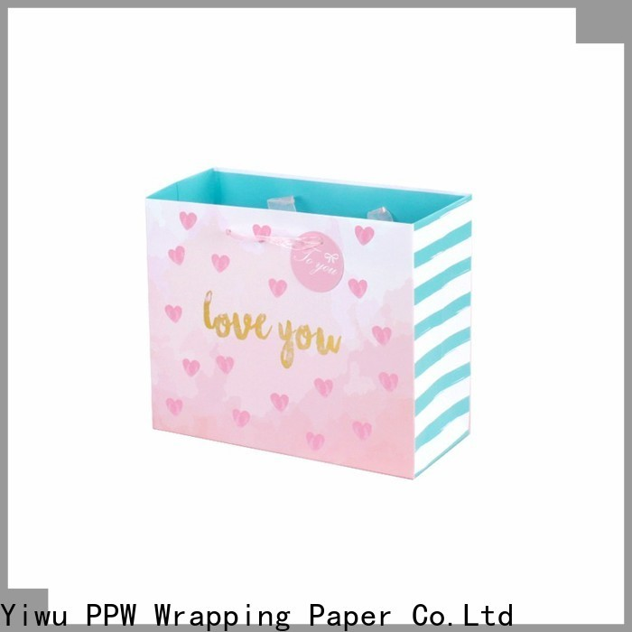 PPW custom paper shopping bags wholesale