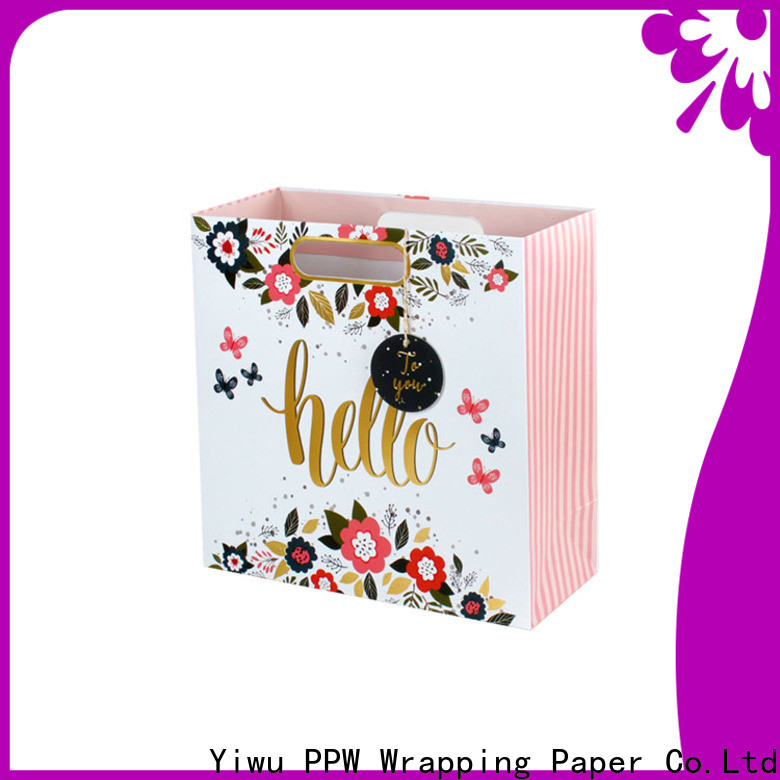 PPW hot selling christmas gift bags factory price for advertising