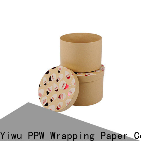 PPW eco-friendly round box wholesale for Christmas