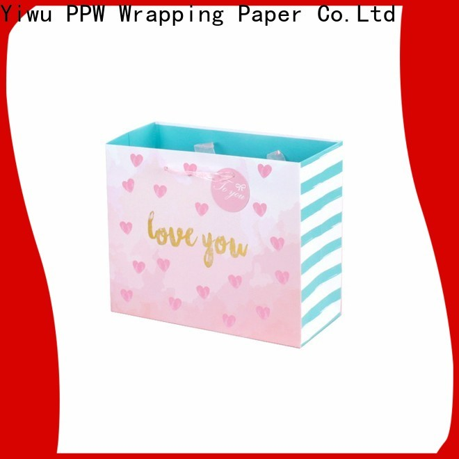 PPW hot selling small paper bags personalized for wedding