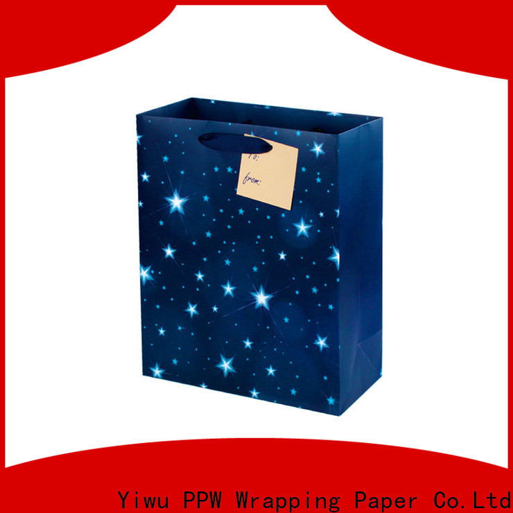 PPW paper bags with handles personalized for advertising