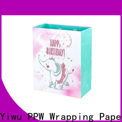 PPW hot selling paper gift bags factory price for advertising