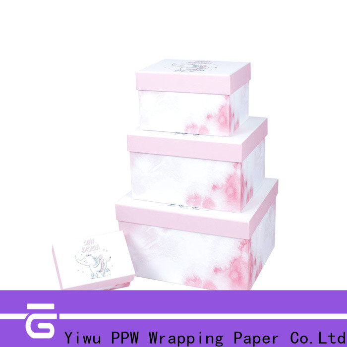 PPW top quality gift card box manufacturer for festival