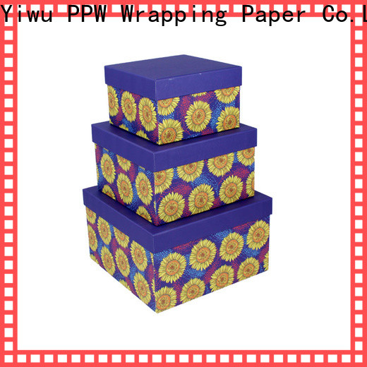PPW cosmetic box supplier for birthday