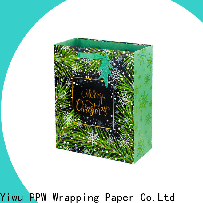 PPW small paper bags factory price for festival